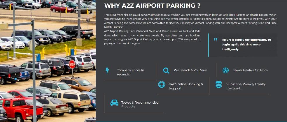 a2z airport parking voucher code