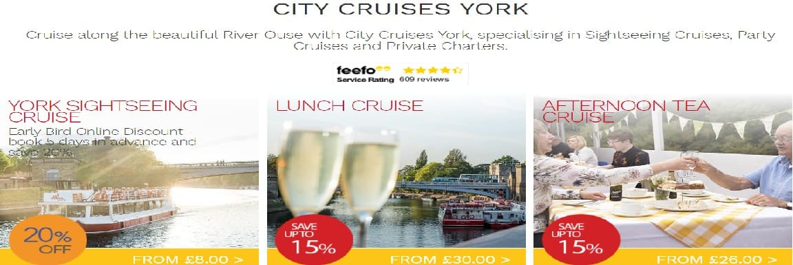 city cruises york voucher code
