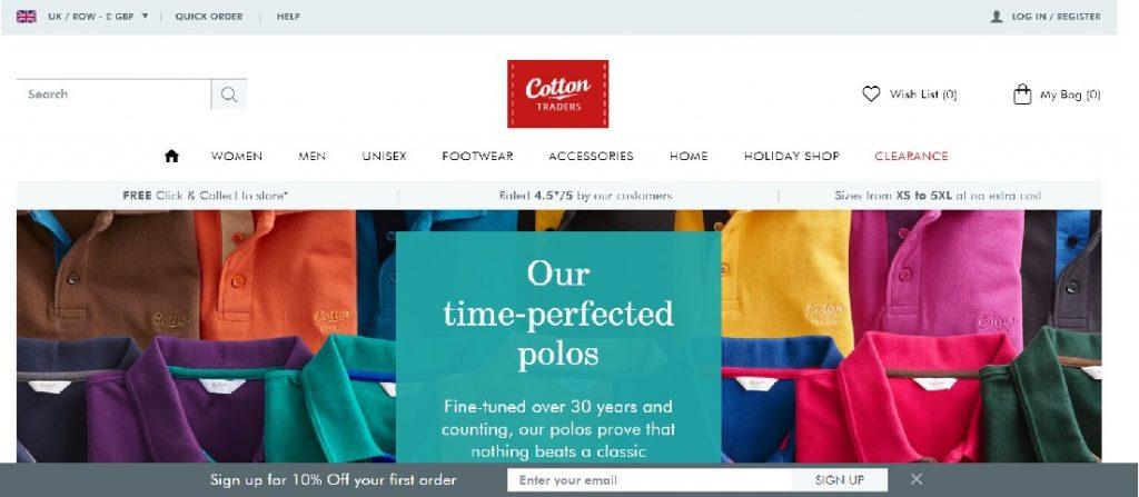 cotton traders voucher code