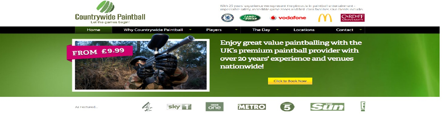 countrywide paint ball voucher code