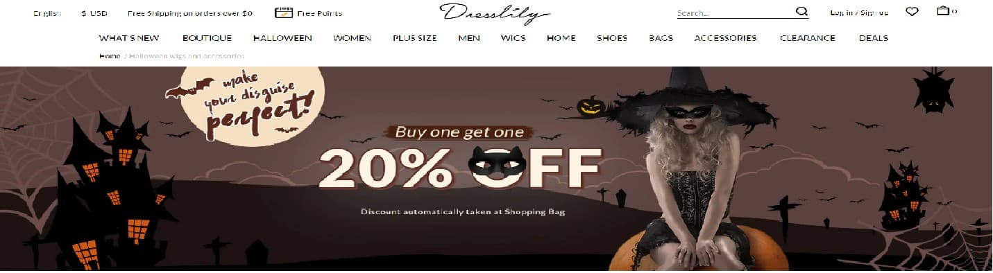 dresslily discount code banner